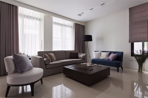 世贸香槟湖广场130平米简约风格三居室装修效果图