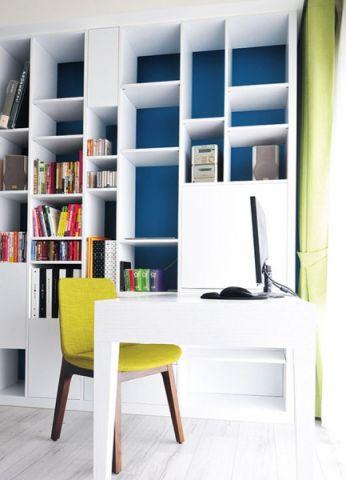 书房博古架北欧风格装修效果图