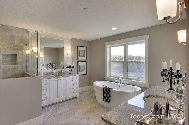 卫生间白色细节美式风格装修效果图