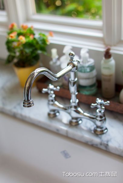 厨房彩色细节美式风格装修设计图片