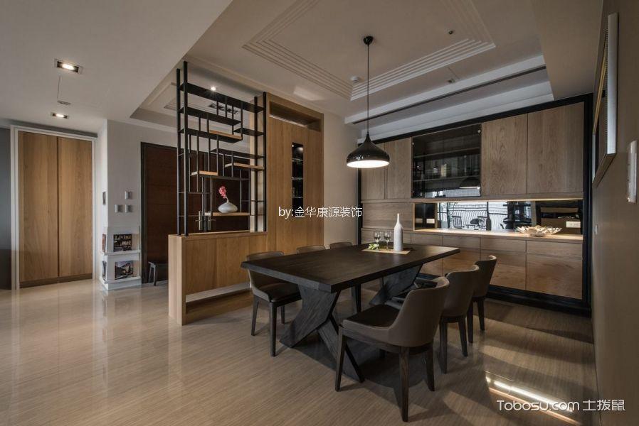 餐厅 隔断_紫金玉澜简约风格三居室装修效果图