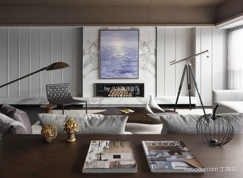 紫金玉澜简约风格三居室装修效果图