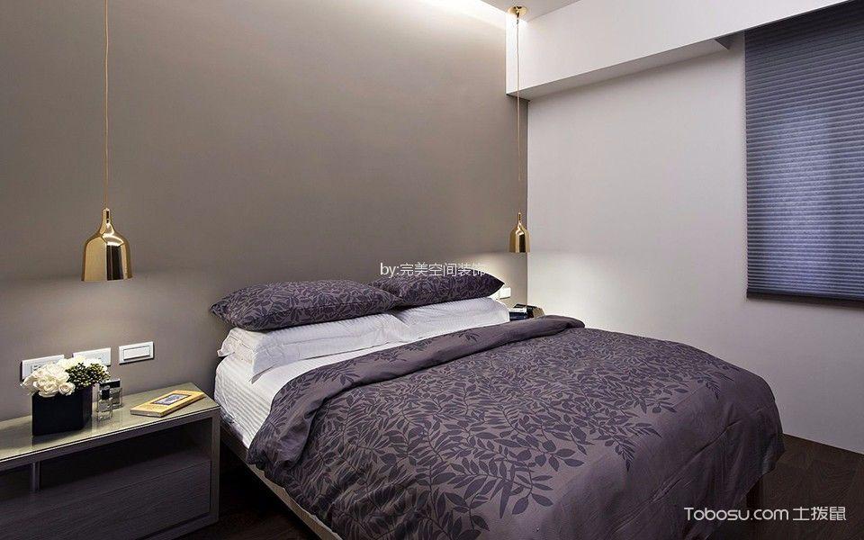 卧室咖啡色床现代风格装修图片