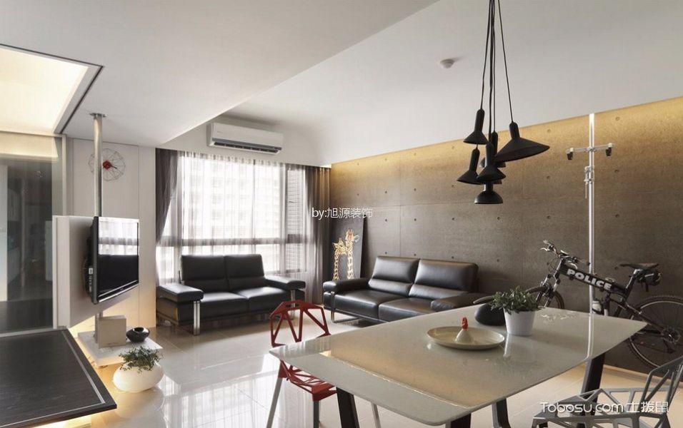 水晶卡巴拉88方现代两居装修效果图