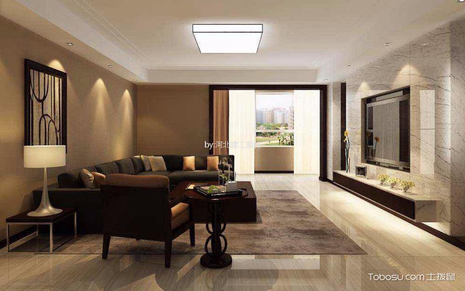 维多利亚130㎡现代风格三居室装修效果图