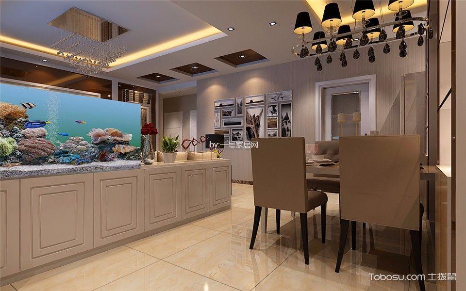 餐厅米色细节简欧风格装饰图片