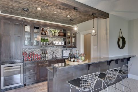 厨房美式风格效果图大全2017图片_土拨鼠简洁优雅厨房美式风格装修设计效果图欣赏
