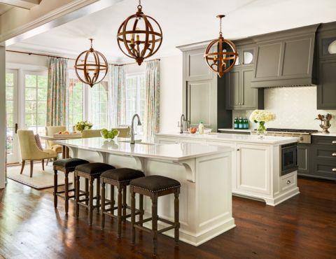 厨房美式风格效果图大全2017图片_土拨鼠典雅厨房美式风格庭院装修设计效果图