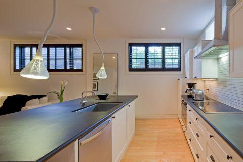 厨房吧台简欧风格装潢效果图