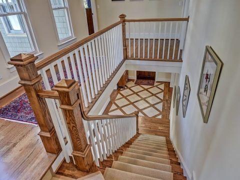 地下室楼梯美式风格装饰效果图
