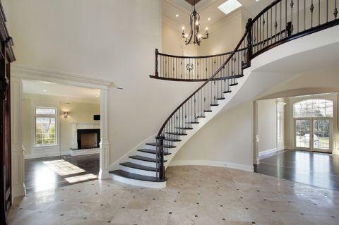 楼梯简欧风格装潢设计图片