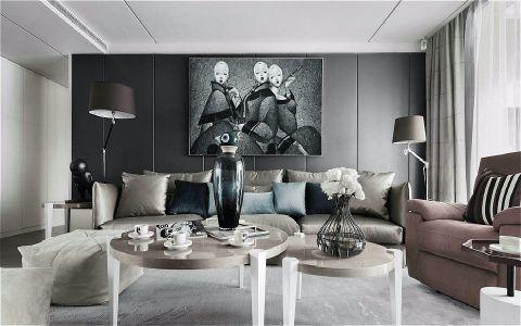 客厅照片墙简约风格装饰效果图