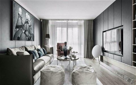 清林闲庭120平简约风格三居室装修效果图