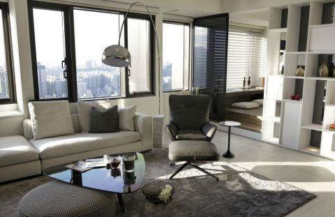 客厅飘窗简约风格装潢设计图片