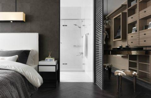 卧室隔断简约风格装潢设计图片