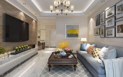 保利花园134平米现代简约三居室装修效果图