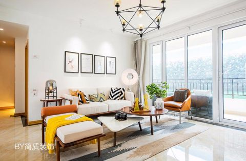 现代风格117平米三室两厅新房装修效果图
