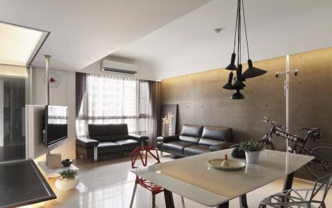 现代风格88平米两室两厅新房装修效果图