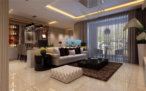迎宾路3号140平简欧风格三居室装修效果图