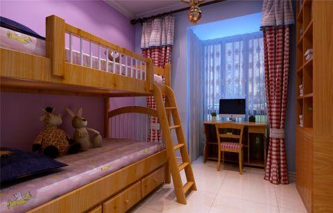 儿童房飘窗简欧风格装修设计图片