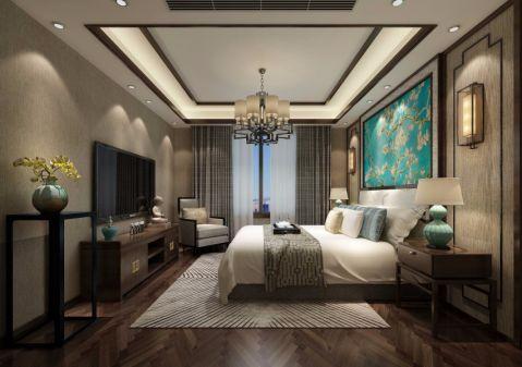 卧室窗帘新中式风格装饰设计图片