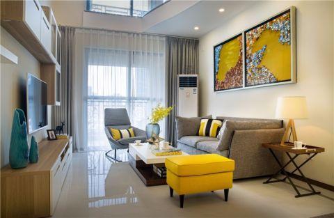 地中海阳光装修现代风格三房公寓装修效果图