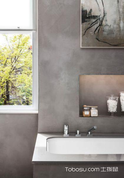 卫生间灰色细节现代风格装潢设计图片