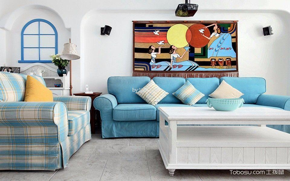 首开缇香郡88平米地中海风格两居装修效果图