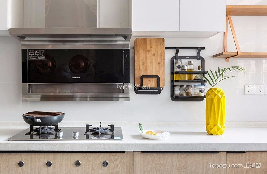 厨房 橱柜_北欧风格90平米公寓室内装修效果图