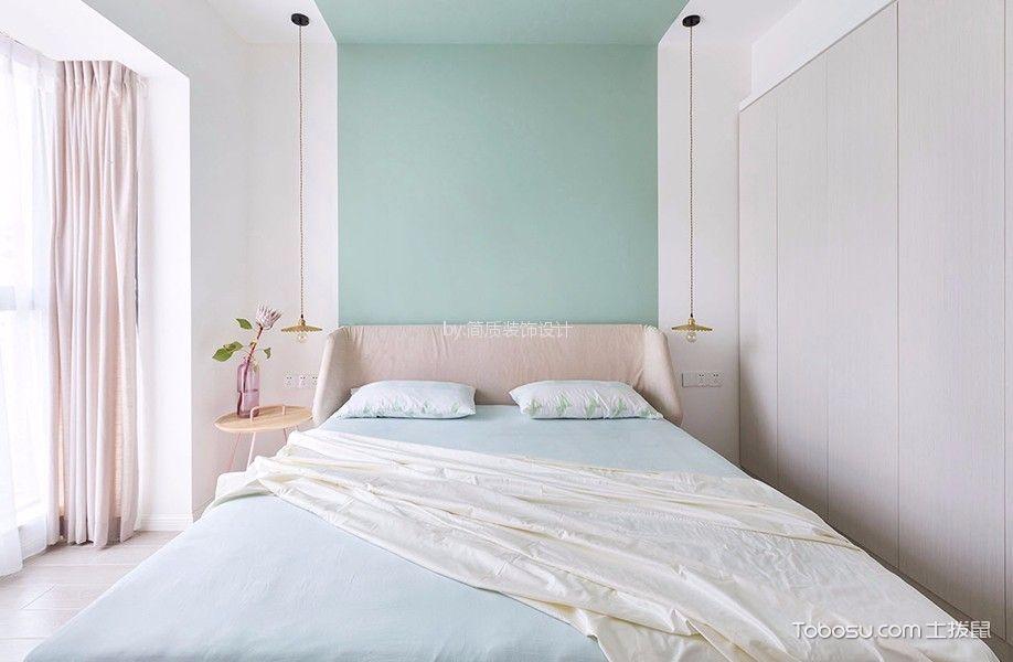 卧室 背景墙_北欧风格90平米公寓室内装修效果图