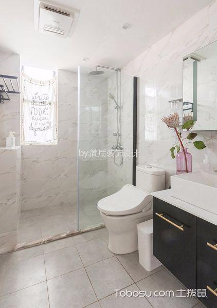 卫生间 地砖_北欧风格90平米公寓室内装修效果图