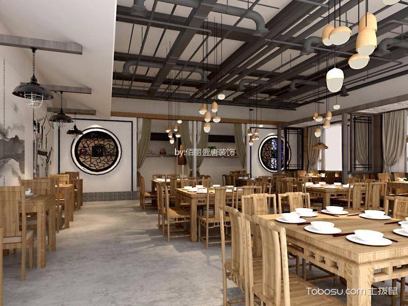 徽派民居主题餐厅餐厅餐桌装修图片
