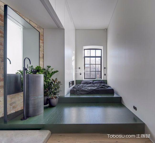 卧室 阁楼_十里新城110平后现代风格三居室装修效果图