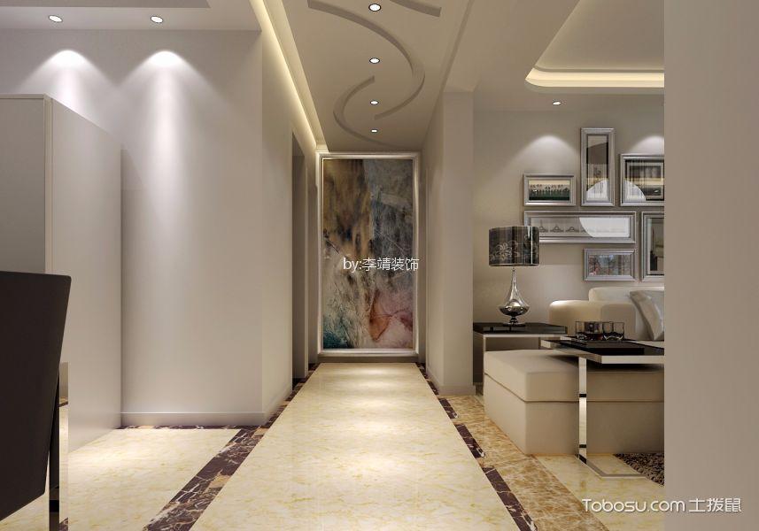 玄关 吊顶_东方明珠125平方现代简约三室两厅装修效果图