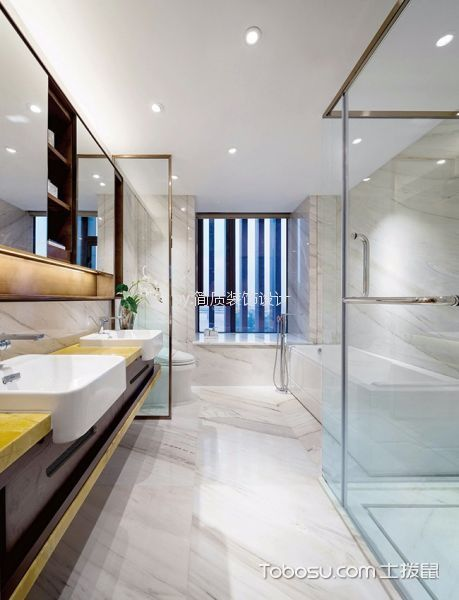 卫生间白色吊顶新中式风格装修设计图片