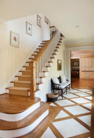 自然写意美式风格楼梯装修效果图