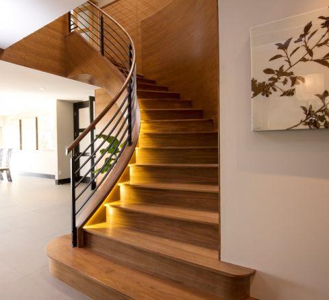 干净舒适现代风格楼梯装修效果图_土拨鼠装修2017装修图片大全