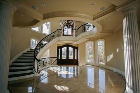 温暖简欧风格楼梯装修效果图_土拨鼠装修2017装修图片大全