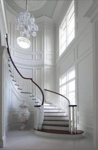 格调美式风格楼梯装修效果图_土拨鼠装修2017装修图片大全