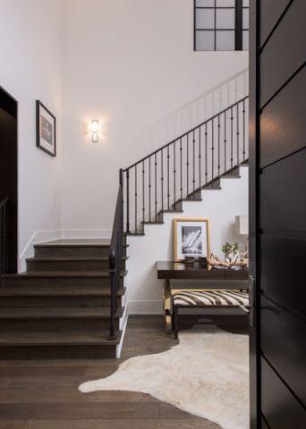 品质生活美式风格楼梯装修效果图_土拨鼠装修2017装修图片大全
