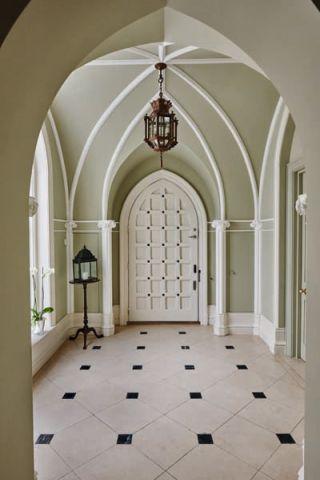 清新雅致简欧风格走廊装修效果图