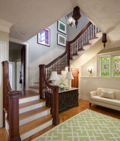楼梯简欧风格装修设计图片