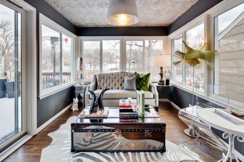 时尚创意混搭风格客厅装修效果图