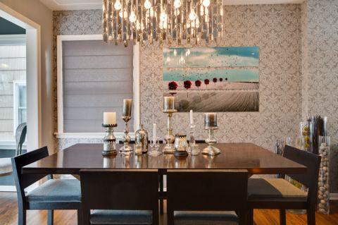 餐厅照片墙混搭风格装饰图片