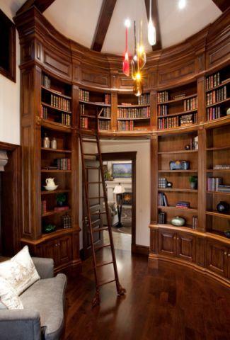书房橱柜美式风格装潢效果图