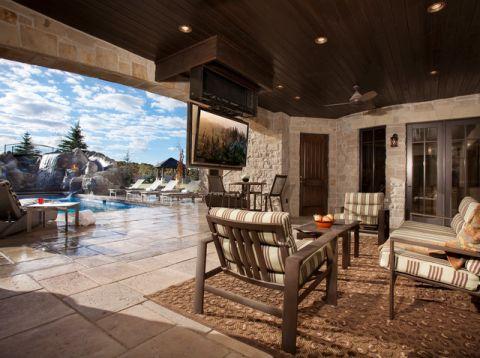 阳台细节美式风格装饰设计图片