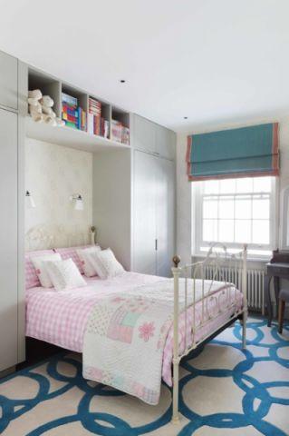儿童房背景墙现代风格装潢效果图