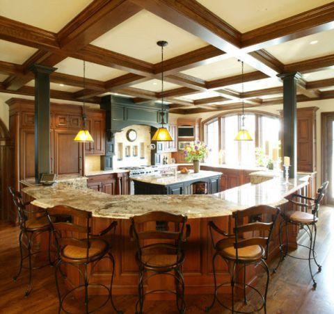 厨房吊顶混搭风格装修效果图