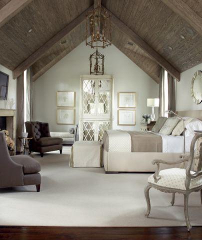 时尚创意美式风格卧室装修效果图
