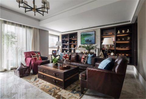 南台十六府93平米美式风格三居室装修效果图